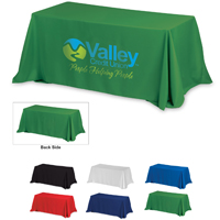 4-Sided Throw Style Table Covers & Table Throws (Spot Color Print) / Fit 8 Foot Table